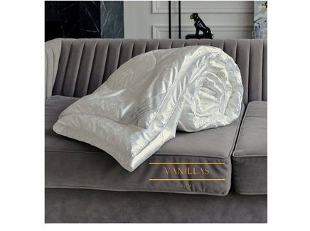 Шелковое одеяло шенонсо (vanillas home) белый 195x215 см.