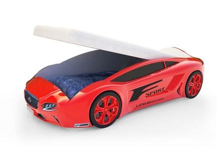 Кровать-машина карлсон roadster лексус (magic cars) красный 105x49x174 см.
