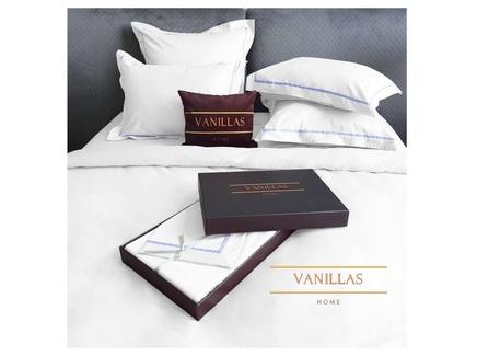 Комплект постельного белья санторини (vanillas home) белый 200x220 см.
