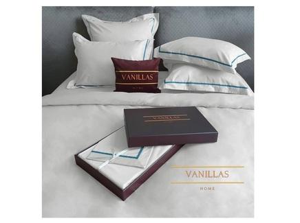 Комплект постельного белья петергоф (vanillas home) белый 180x210 см.