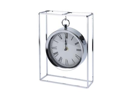 Часы настольные подвесные металлические хром (garda decor) прозрачный 25.0x18.0x5.0 см.