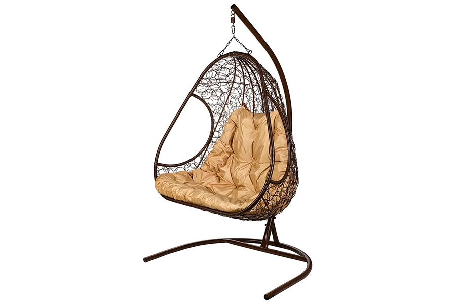 Подвесное кресло primavera brown (bigarden) коричневый 140x195x75 см.