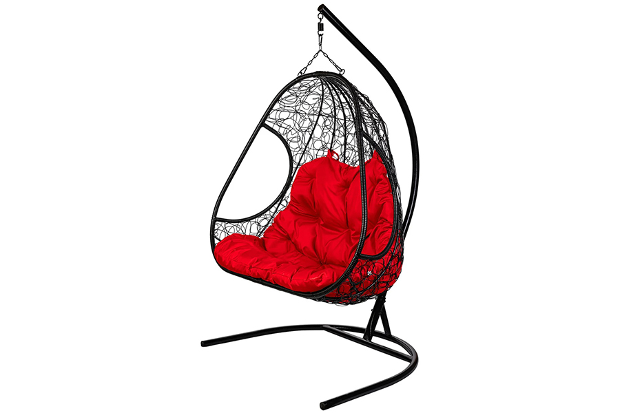 Подвесное кресло primavera black (bigarden) черный 140x195x75 см.