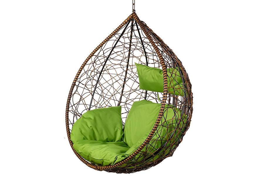 Подвесное кресло tropica brown (bigarden) коричневый 106x123x74 см.