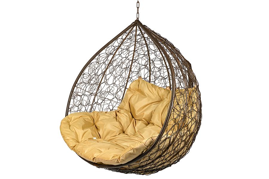 Подвесное кресло gemini (bigarden) коричневый 135x120x75 см.