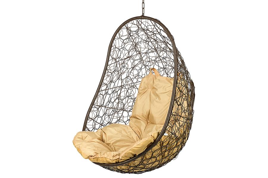 Подвесное кресло easy brown (bigarden) коричневый 80x130x66 см.