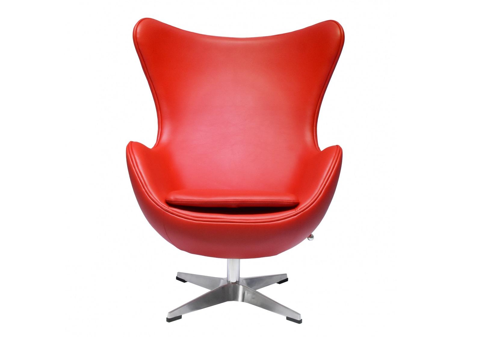 Кресло egg chair (bradexhome) красный 76x110x77 см.