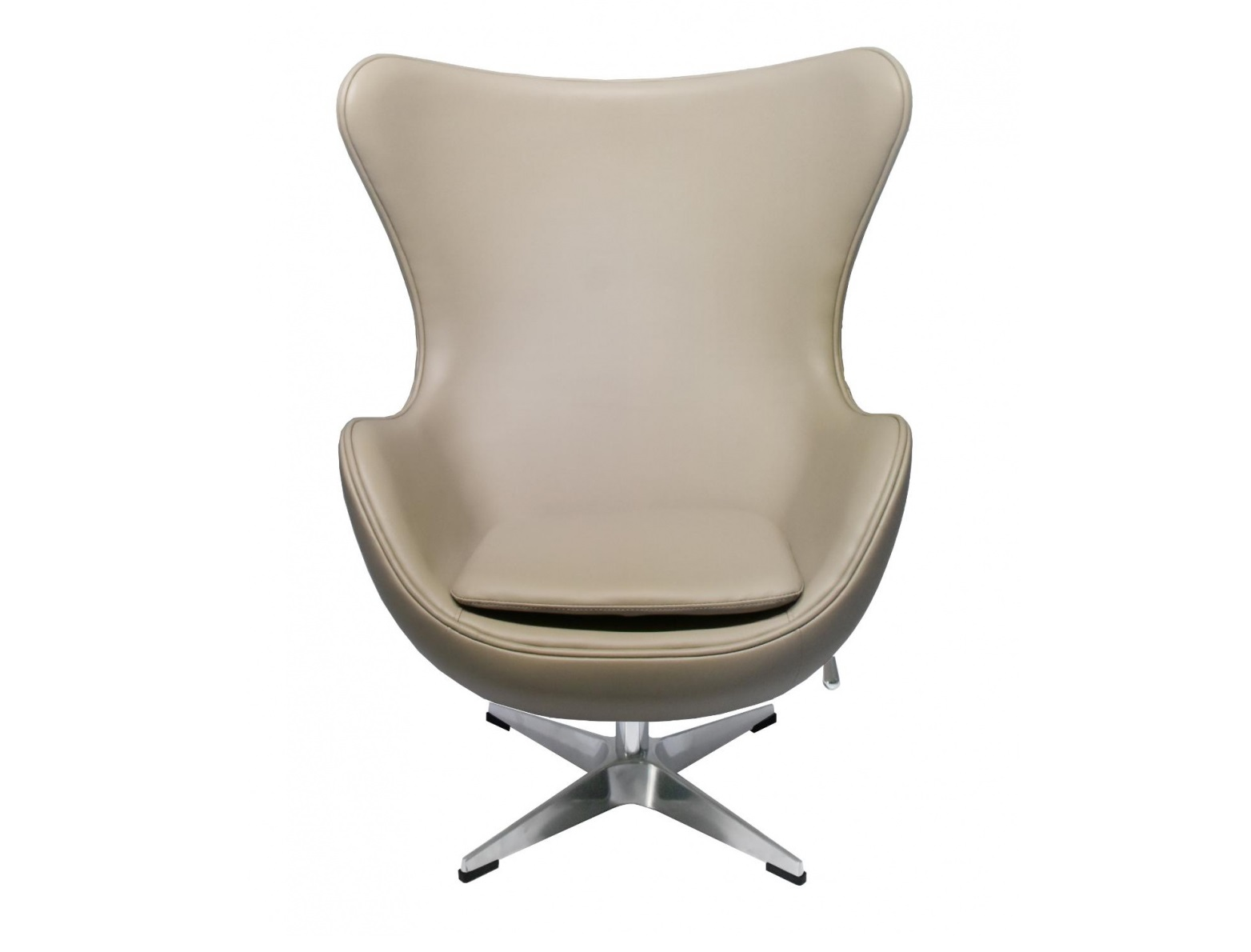 Кресло egg chair (bradexhome) бежевый 76x110x77 см.