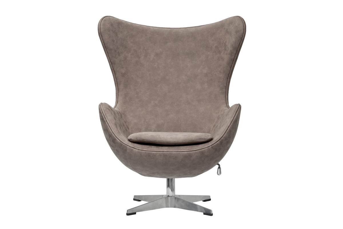 Кресло egg chair (bradexhome) коричневый 76x110x76 см.