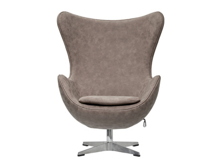 Кресло egg chair (bradexhome) коричневый 76x110x76 см.