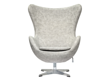 Кресло egg chair (bradexhome) серый 76x110x76 см.