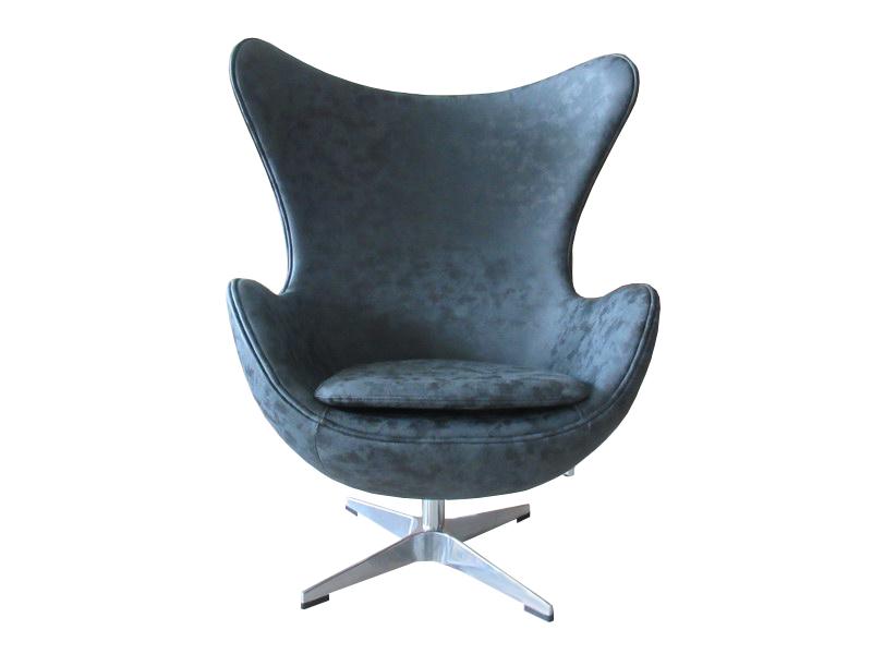 Кресло egg chair (bradexhome) черный 76x110x76 см.