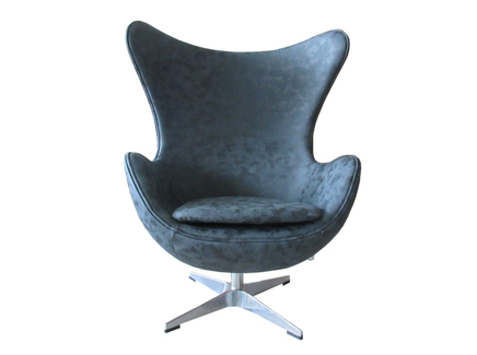 Кресло egg chair (bradexhome) черный 76x110x76 см.