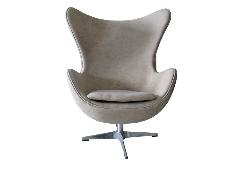 Кресло egg chair (bradexhome) бежевый 76x110x76 см.