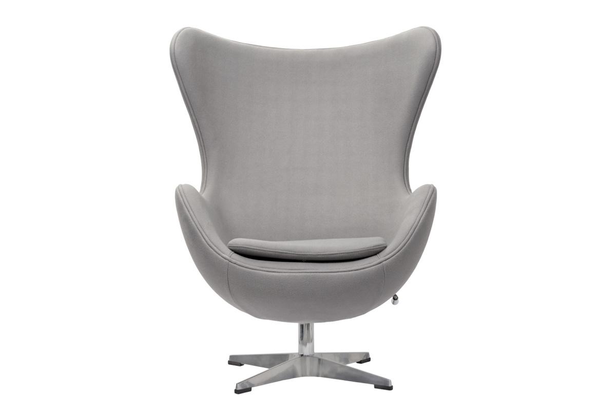 Кресло egg chair (bradexhome) серый 76x110x76 см.