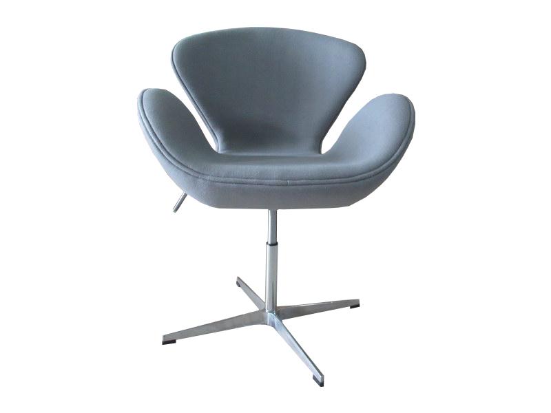 Кресло swan chair (bradexhome) серый 61x95x61 см.