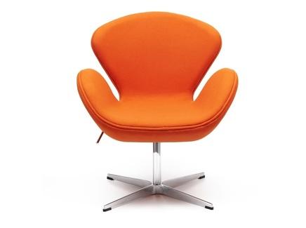 Кресло swan chair (bradexhome) оранжевый 61x95x61 см.
