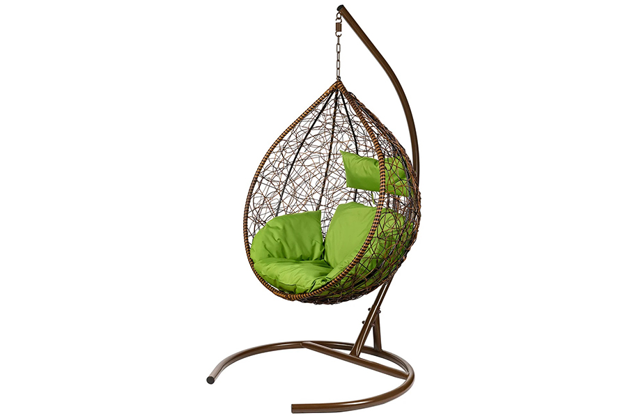 Подвесное кресло tropica twotone (bigarden) коричневый 106x195x74 см.