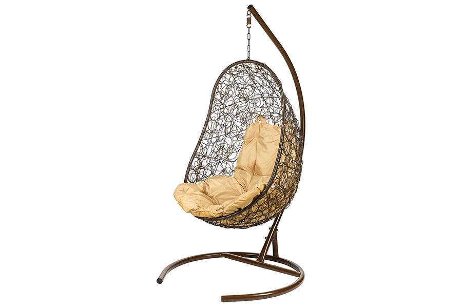 Подвесное кресло easy brown (bigarden) коричневый 80x195x66 см.