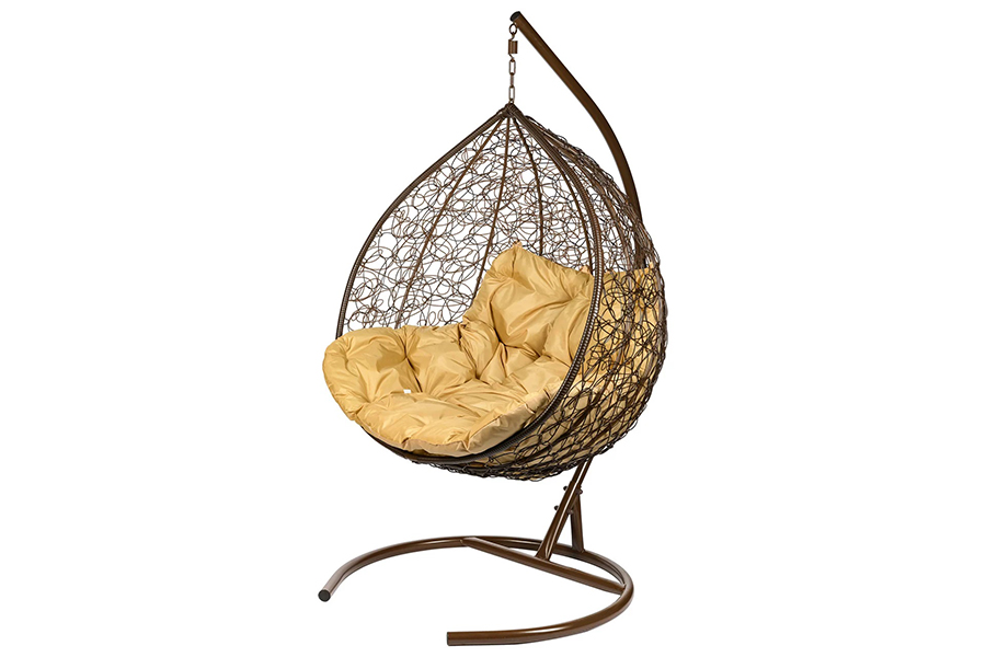 Подвесное кресло gemini (bigarden) коричневый 135x195x75 см.