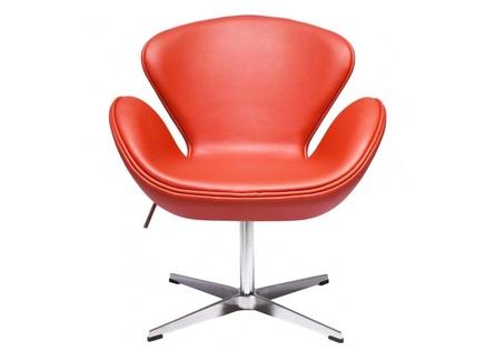 Кресло swan chair (bradexhome) красный 61x95x61 см.