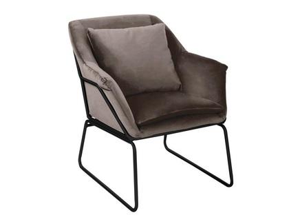 Кресло alex (bradexhome) коричневый 68x79x80 см.