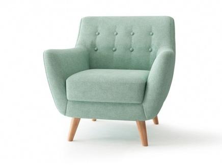 Кресло picasso (bradexhome) голубой 85x83x85 см.