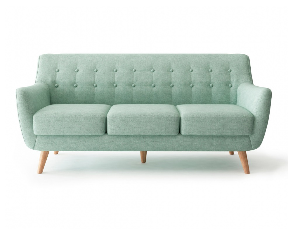 Bradexhome диван трехместный picasso голубой 121307/3
