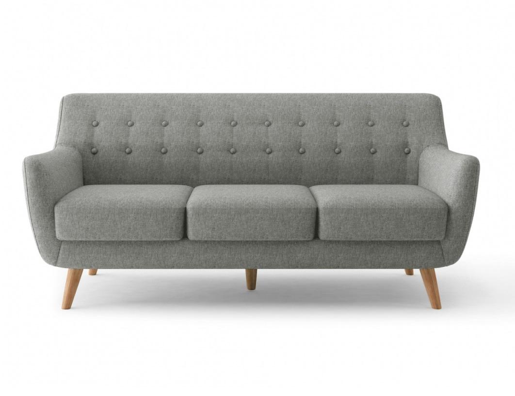 Bradexhome диван трехместный picasso серый 121306/6
