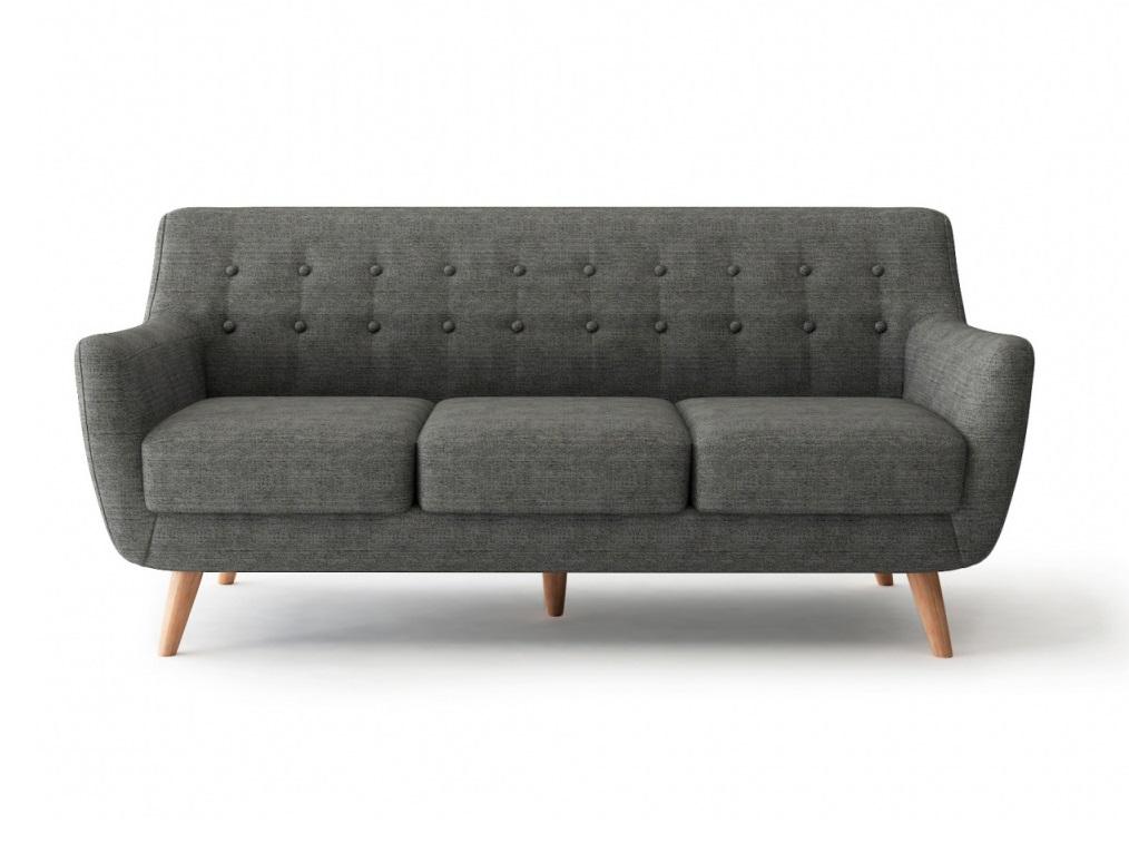 Bradexhome диван трехместный picasso серый 121305/3