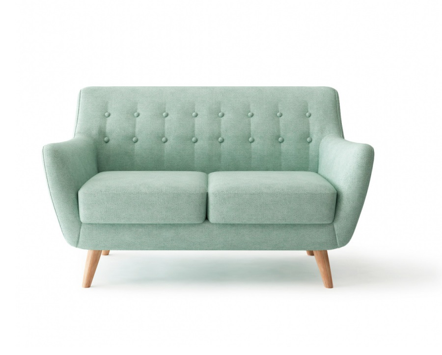 Bradexhome диван двухместный picasso голубой 121308/121329