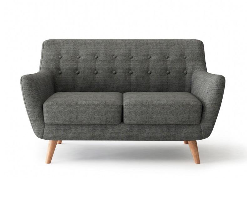Bradexhome диван двухместный picasso серый 121310/4