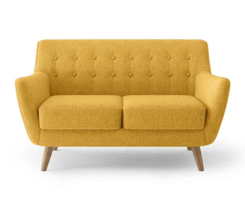 Bradexhome диван двухместный picasso желтый 121311/3