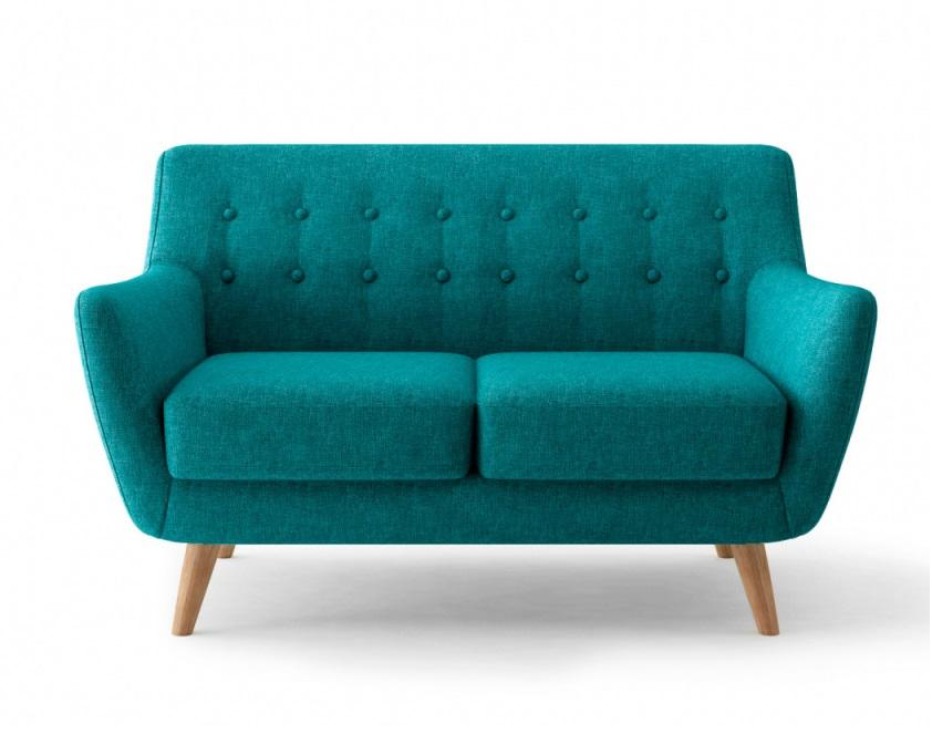 Bradexhome диван двухместный picasso голубой 121312/1