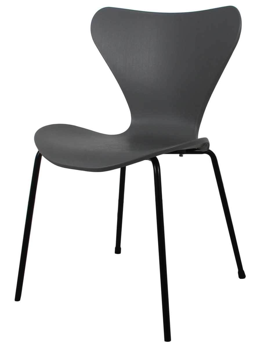 Стул seven (bradexhome) серый 53x80x53 см.