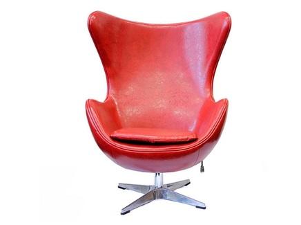 Кресло egg chair (bradexhome) красный 76x110x76 см.