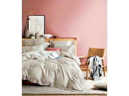 Комплект постельного белья (евро) (asabella) бежевый 240x260 см.