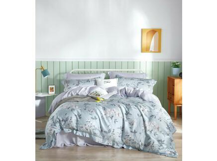 Комплект постельного белья (евро) (asabella) голубой 240x260 см.