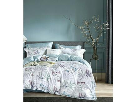 Комплект постельного белья (asabella) голубой 180x245 см.