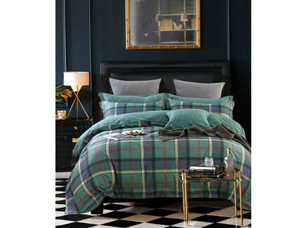 Комплект постельного белья (семейный) (asabella) зеленый 240x260 см.