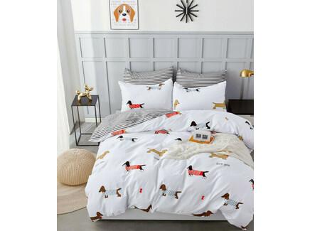 Комплект постельного белья (asabella) серый 180x245 см.