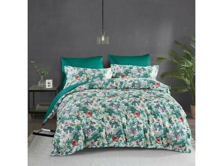 Комплект постельного белья (евро) (asabella) зеленый 240x260 см.