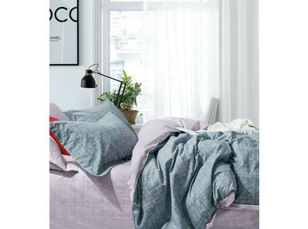 Комплект постельного белья (полутороспальный) (asabella) голубой 160x220 см.