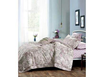 Комплект постельного белья (семейный) (asabella) розовый 160x220 см.