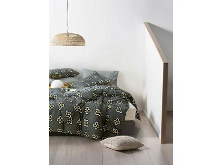 Комплект постельного белья (евро) (asabella) серый 200x220 см.