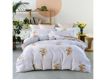 Комплект постельного белья (евро) (asabella) голубой 200x220 см.