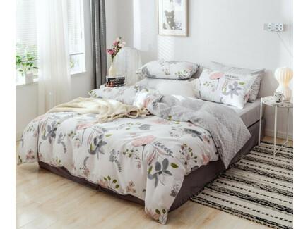 Комплект постельного белья (полутороспальный) (asabella) белый 160x220 см.