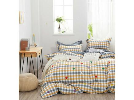 Комплект постельного белья (евро) (asabella) желтый 200x220 см.