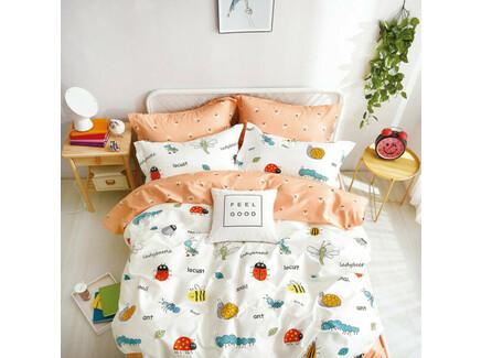 Комплект постельного белья (полутороспальный) (asabella) оранжевый 145x205 см.