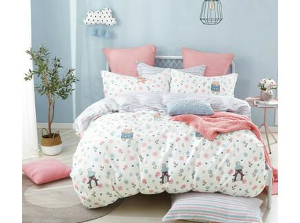 Комплект постельного белья (полутороспальный) (asabella) белый 145x205 см.